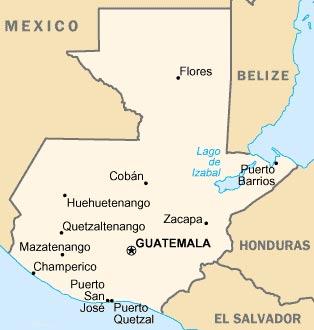 carte Guatemala
