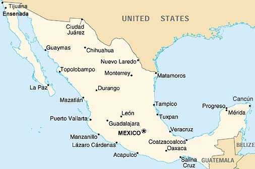 acapulco-sur-la-carte-du-mexique