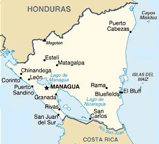 carte Nicaragua
