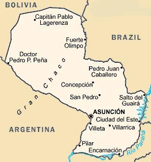 carte Paraguay