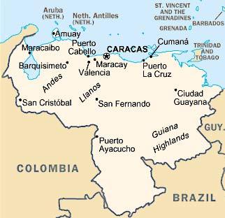 Venezuela - carte